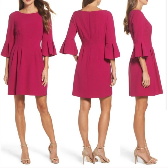 Eliza J Bell Sleeve Fit and Flare Dress